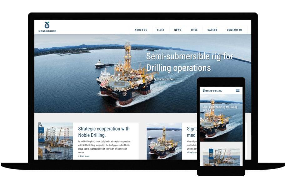 Referanse nettsiden til Island Drilling